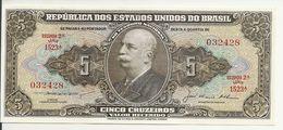BRESIL 5 CRUZEIROS ND1953-59 UNC P 158 C - Brazil