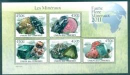 Comoro Is 2011 Minerals, Rocks, Gemstones MS MUH CM008 - Isole Comore (1975-...)