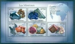 Comoro Is 2011 Minerals, Rocks, Gemstones MS MUH CM011 - Isole Comore (1975-...)