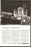 1945 Boeing B-29 Superfortress Aircraft Ground Flight Ad Publicity - War Bonds - War Time WWII WW2 - Advertising