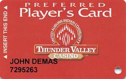 Thunder Valley Casino Lincoln CA - Slot Card Copyright 2005 - Casino Cards