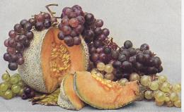 AK 0028  Stilleben - Obst ( Melone , Trauben )  / Naturfarben Photo Um 1920 - Fotografie
