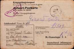 CARTE D'UN PRISONNIER FRANCAIS EN ALLEMAGNE 1945 - War 1939-45