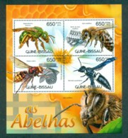 Guinea Bissau 2012 Insects, Bee, Wasp, Fly MS MUH GB12410a - Guinea-Bissau