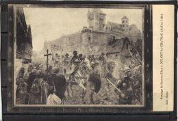 02112.  PASSAGE DE JEANNE D ARD A OULCHY LE CHATEAU  . 2 Scans . RECTO VERSO - France