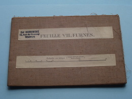 FURNES ( Feuille VII ) Anno 1912 ( Kaart Op Katoen / Cotton ) Belgique ( E. Smekens ) 1/100.000 ! - Europa