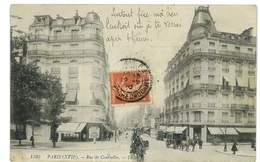CPA 75 PARIS RUE DE COURCELLES Pliee - Andere