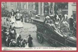 Ath - Cortège Des Fête Communales - Mr Et Mme Goliath Dansant Sur Le Pont Du Moulin ( Voir Verso ) - Ath
