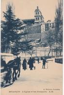 05 Hautes-Alpes - BRIANCON Sous La Neige - L'Eglise Et Les Remparts - Attelage - 1926 - Briancon
