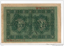 ALLEMAGNE . 50 MARK TYPE 1914 - Réf. N°10771 - - 50 Mark