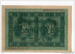 ALLEMAGNE . 50 MARK TYPE 1914 - Réf. N°10765 - - 50 Mark
