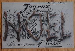 Carte Joyeux Noël 1917 écrite Du Front Belge - Filleul De Guerre à Sa Marraine - Belle écriture Manuscrite - (n°13096) - Guerra 1914-18