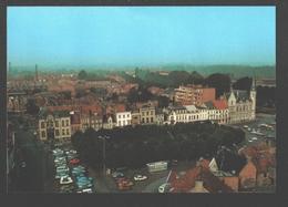Lokeren - Grote Marktplaats Met Stadhuis En Postgebouw - Lokeren