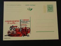 Publibel 2391 Tracteur Moissonneuse Batteuse Agriculture Entier Postal Stationery Card Belgique - Agriculture