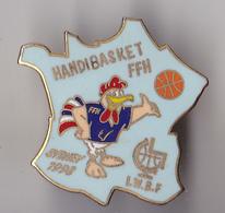 PIN'S THEME  SPORT  HANDIBASKET  FEDERATION FRANCAISE SYDNEY 1998 - Basketball