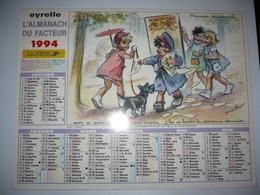 Almanach Du Facteur 1994  Deux  Dessins Signes Germaine BOURET - Tamaño Grande : 1991-00