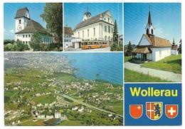 WOLLERAU SZ Wappen Löwe Johanniterkreuz Stempel SBB Richterswil 1989 - SZ Schwyz
