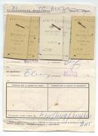 Transportation Ticket From Yugoslavia 1977,Railway,Train Ticket Skopje - Belgrade - Skopje - Railway
