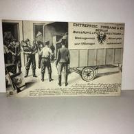 CPA Illustrateur P. Clermont - ENTREPRISE FORBANS & Cie - GUILLAUME & FILS Directeurs - Déménagement Guerre - DB24A - Oorlog 1914-18