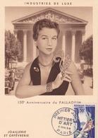 Carte-Maximum FRANCE N° Yvert 973 (JOAILLERIE) Obl Sp 1er Jour (Ed Bourg) - 1950-59