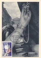 Carte-Maximum FRANCE N° Yvert 973 (JOAILLERIE) Obl Sp 1er Jour (Ed HA) - 1950-59