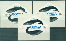 TONGA  PA 221 / 223 Nxx  , Baleine... Adhésifs TB . Cote:20 €. - Tonga (1970-...)