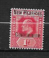 Timbres De Nouvelles Hébrides N°13  Neuf * - English Legend