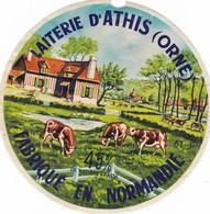 ETIQUETTE FROMAGE CAMEMBERT  - LAITERIE D'ATHIS -  Fab En NORMANDIE  61-J - Cheese