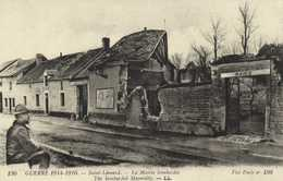 Militaria Guerre 1914 1916 Saint Léonard La Mairie Bombardée RV - Sonstige Gemeinden