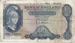Royaume Uni 5 Pounds 1957-61 - 5 Pounds
