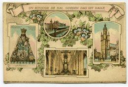 CPA - Carte Postale - Belgique - Halle - Un Bonjour - 1924 ( SV5438 ) - Halle