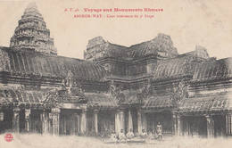 Voyage Aux Monuments Khmers Par A.T. N° 46 Angkor-Wat - Cour Intérieur Du 3è étage Cambodge Indochine Cambodia - Cambodia
