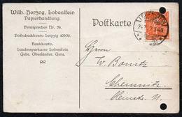 B6672 - Lobenstein - Wilhelm Herzog - Papierhandlung - Bedarfspost Firmenpost - Storia Postale