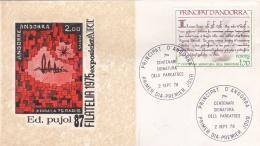 French Andorra FDC 1978 7. Centenari Signatura Dels Pareatges  (DD23-8) - FDC