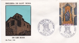French Andorra FDC 1977 Esglesia De Sant Roma (DD23-8) - FDC