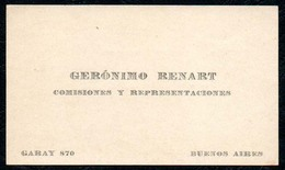 B6681 - Buenos Aires - Geronimo Renart - Visitenkarte - Visitenkarten