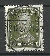 Deutsches Reich 1927 Michel 394 O Gut Gestempelt - Germany