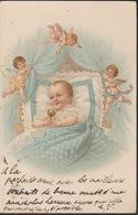 18/9/290  - CPA    - BÉBÉ, CARTE  DE  NAISSANCE - Children's Drawings