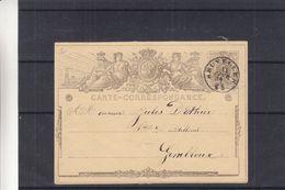 Belgique - Carte Postale De 1872 ? - Entiers Postaux - Oblit Bruxelles - Exp Vers Gembloux - Ganzsachen