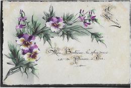 Fleurs - Carte Peinte à La Main - Bloemen