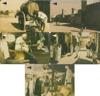 Bahrain, Old Scenes, Souq & Markets Etc., Set Of 5 Cards (25-500 Units) - Bahrain