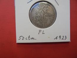 CONGO BELGE 50 Centimes 1923 VL TTB/TTB+ - Congo (Belgian) & Ruanda-Urundi