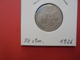 CONGO BELGE 50 Centimes 1926 FR TTB+ - Congo (Belge) & Ruanda-Urundi