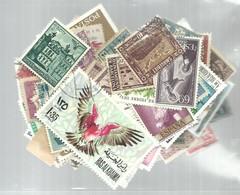 STOCK 100 STAMPS - Postzegels