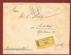 Infla Reco Brief 24/1/1919 Kaaden - Heidelberg: MARKENLOS 2 Scan - 1918-1945 1. Republik