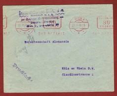 Infla  Drucksache 27/3/1923  Wien - Köln Bar Bezahlt - 1918-1945 1. Republik