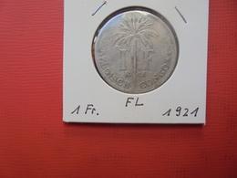 CONGO BELGE 1 FRANC 1921 VL TTB - Congo (Belgian) & Ruanda-Urundi