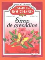 étiquette Sirop De Grenadine Marie Bouchard Meneau à Saint Loubès - 100 Cl - Fruits & Vegetables