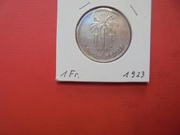 CONGO BELGE 1 FRANC 1923 FR TTB+/SUP - Congo (Belgian) & Ruanda-Urundi