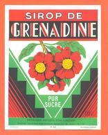 étiquette Sirop De Grenadine Pur Sucre Distillerie Bounaud à Aubusson - 100 Cl - Fruits & Vegetables